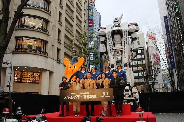「パトレイバー」実物大イングラム、新宿に登場!