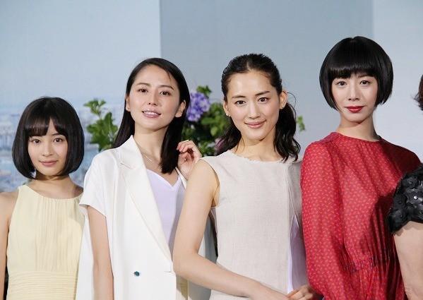 綾瀬×長澤×夏帆×すず「海街diary」4姉妹、カンヌ参加を笑顔で報告!