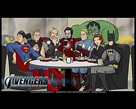 人気ヒーローたちがカフェで談笑「パロウッド」