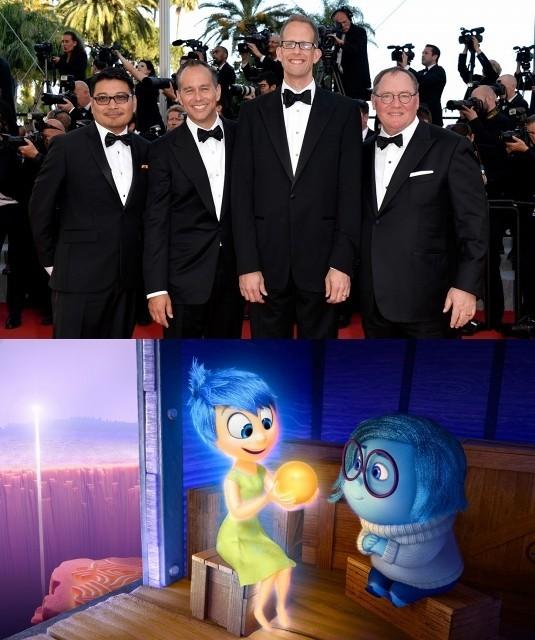 カンヌ映画祭ワールドプレミアに登壇した 「インサイド・ヘッド」のスタッフ