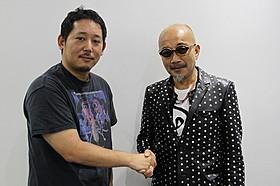 「2015年 神戸三宮映画祭」に参加した入江悠監督と竹中直人「日々ロック」
