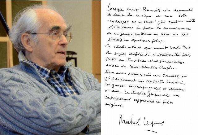 「チャップリンからの贈りもの」ミシェル・ルグランからの直筆メッセージを入手!