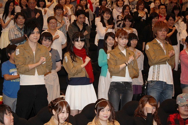 「進撃の巨人」梶裕貴&石川由依&井上麻里奈、ファン420人と「心臓を捧げよ!」