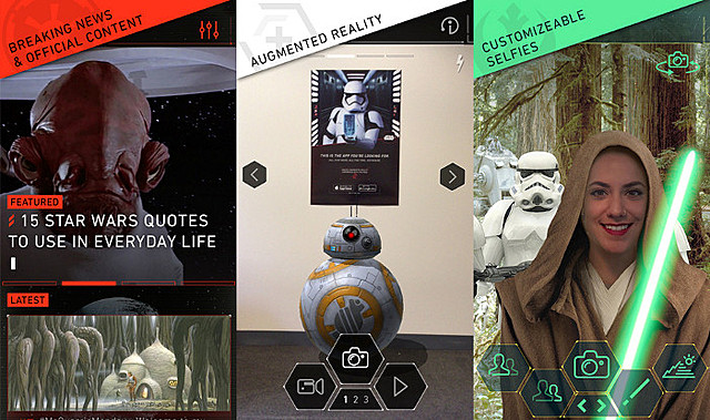 ルーカスフィルムが「スター・ウォーズ」アプリを発表