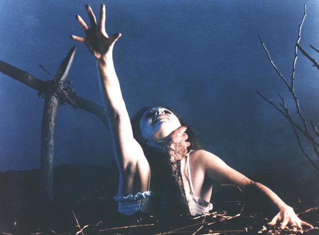 「死霊のはらわた(1981)」の一場面