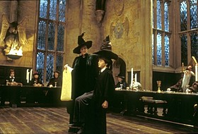 ホグワーツ魔法魔術学校での一場面