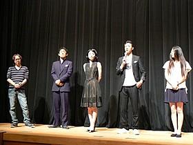 (左から)小野浩嗣監督、木村龍童、北条ナオ、岡慶悟、田中希奈