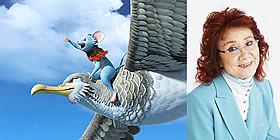 オオミズナキドリのツブリ(写真左)を演じる 元祖ガンバ役の野沢雅子(写真右)「GAMBA ガンバと仲間たち」