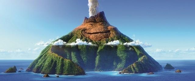 どこかさみしげな表情の火山島・ウク