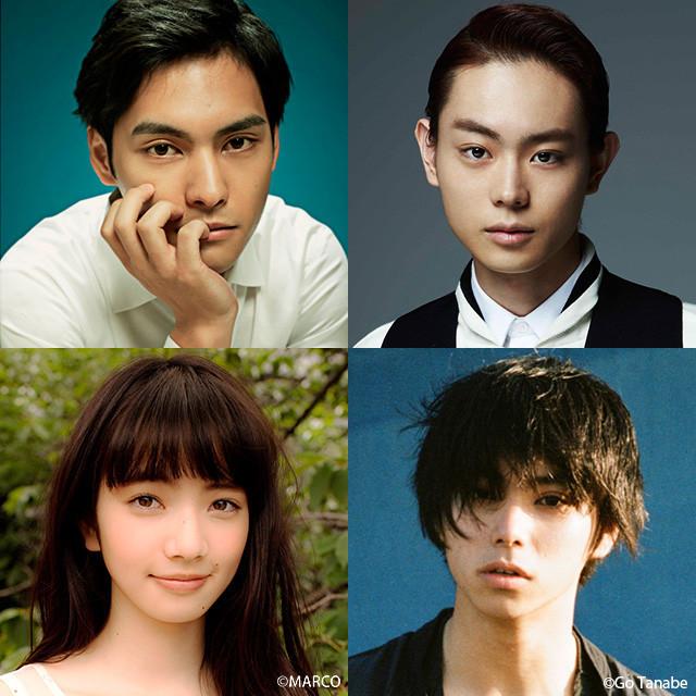 「ディストラクション・ベイビーズ」に出演する (上段左から)柳楽優弥、菅田将暉、村上虹郎、小松菜奈