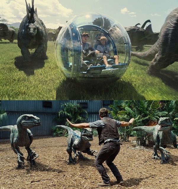 独占入手!「ジュラシック・ワールド」人間VS恐竜のバトルシーン満載の特別映像公開
