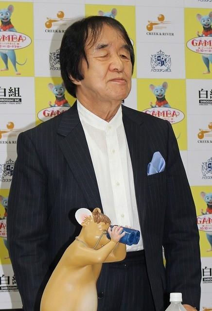 東京での会見に出席した白組・島村達雄氏