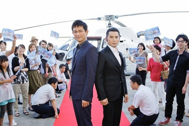 ヘリで登場の「天空の蜂」江口洋介&本木雅弘、初共演に大きな手ごたえ