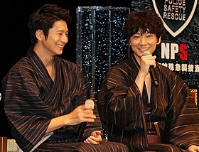 仲の良さを見せた向井理(左)と綾野剛「S 最後の警官 奪還 RECOVERY OF OUR FUTURE」