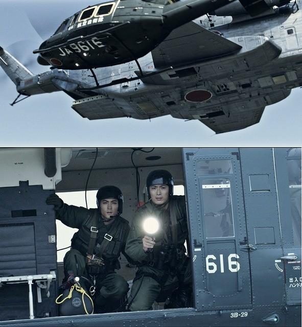 自衛隊は巨大ヘリに残された少年を救えるのか!?「天空の蜂」本編映像公開!