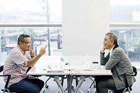 石坂健治氏と中田秀夫監督による対談風景「リング」
