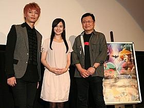 (左から)浅沼晋太郎、M・A・O、川越淳監督「デビルマン」