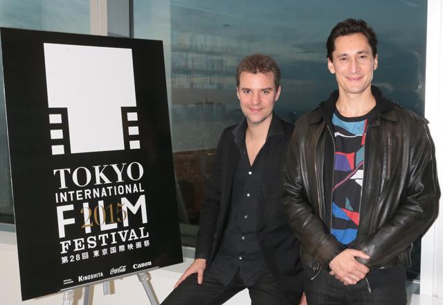 ダビッド・フェルベーク監督と アイヴァンを演じたグレゴワール・コラン