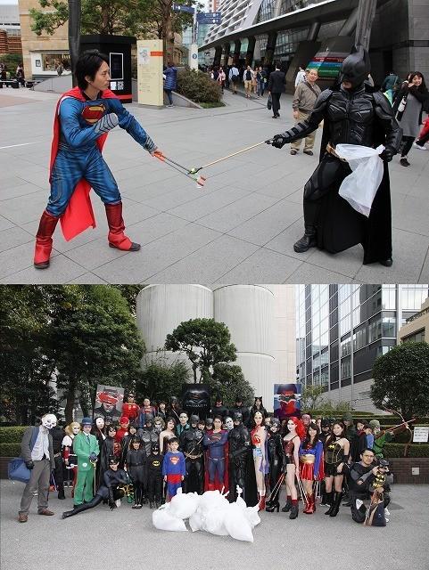 バットマン、スーパーマン、DCヒーローたちがハロウィン浄化ゴミ拾い対決!