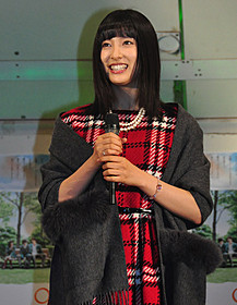 イルミネーション点灯式に 出席した女優の土屋太鳳「orange オレンジ」