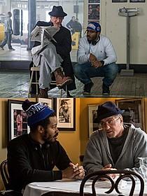 打ち合わせ中のシルベスター・ スタローンとライアン・クーグラー監督「ロッキー」