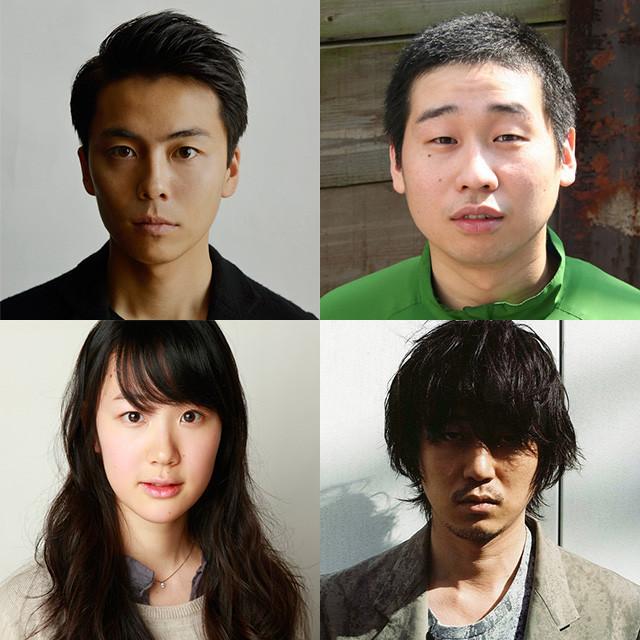 「エミアビのはじまりとはじまり」に出演する (上段左から)森岡龍、前野朋哉、新井浩文、黒木華
