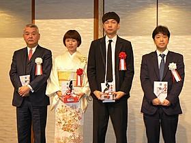 (左から)進藤氏、岨手監督、松永監督、那須田氏「トイレのピエタ」