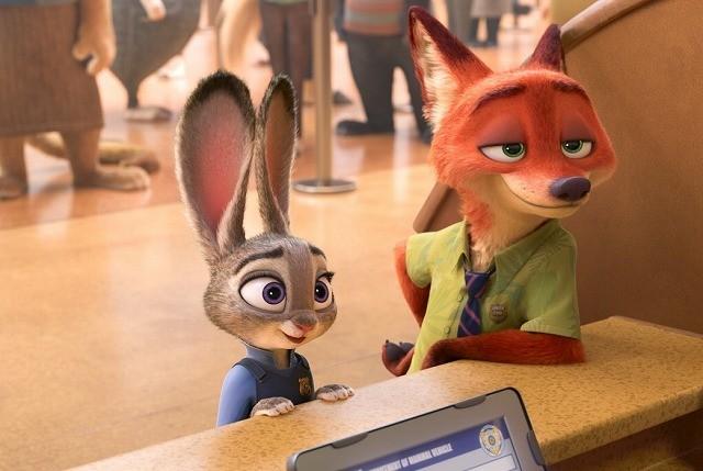 警察官になりたいウサギのジュディ&キツネの詐欺師ニック