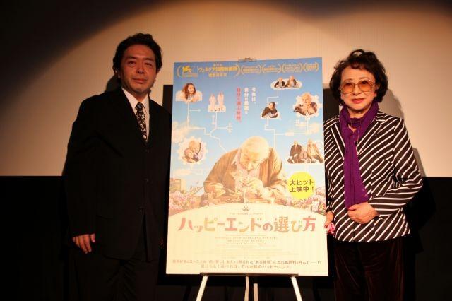 大女優・有馬稲子「ハッピーエンドの選び方」3回観賞し「本当にいい映画」