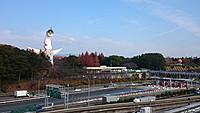 最寄りの万博記念前公園駅を降りると大阪万博の象徴、岡本太郎作の「太陽の塔」がお出迎え。