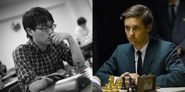 日本チェス界の若きホープ・小島慎也(写真左)