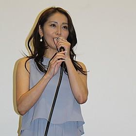 舞台挨拶に立った熊切あさ美「再会 禁じられた大人の恋」