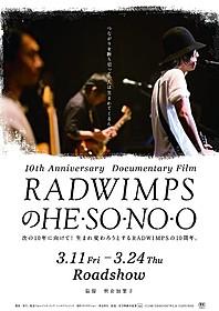 「RADWIMPSのHESONOO Documentary Film」キーアート「RADWIMPSのHESONOO Documentary Film」