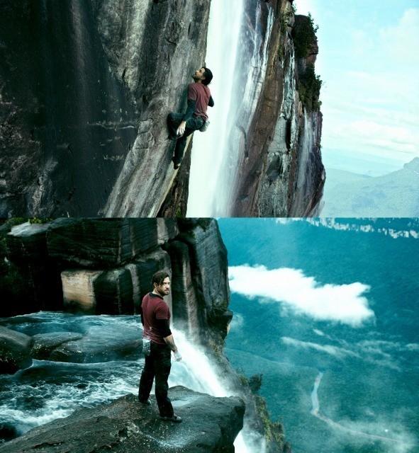 「ファイトー!」「一発!」世界最大の落差の滝を登る「X-ミッション」ロッククライミング映像