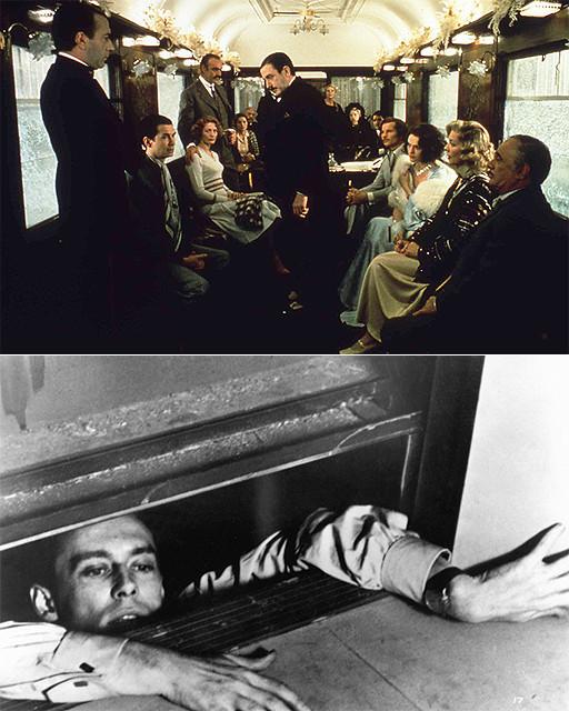 2月19日まで上映中の「オリエント急行殺人事件」(上)と 「死刑台のエレベーター」(下)