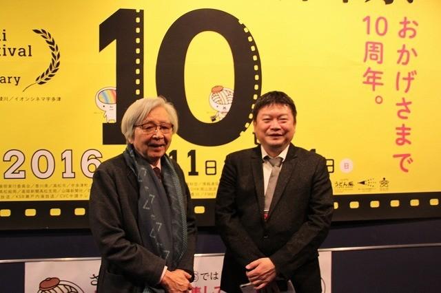 オープニングを盛り上げた山田洋次監督と本広克行監督