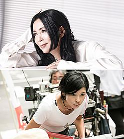 映画「嫌な女」主題歌に起用された 竹内まりや(上)と撮影中の黒木瞳監督(下)「嫌な女」