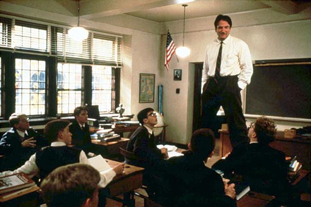 「いまを生きる」(1989)の一場面