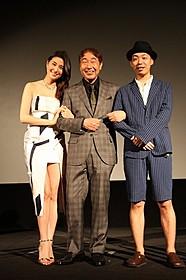 橋本マナミとの舞台挨拶で男性陣はニコニコ「任侠野郎」