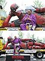 全長7メートル巨大「デッドプール」像が大阪に出現!病押して駆けつけた曙も完成度を絶賛