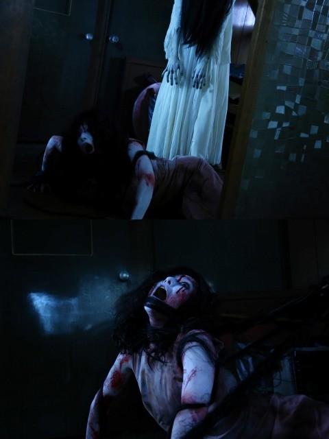 貞子の攻撃で伽椰子がエビ反りに!2大怨霊の死闘を描くバトル画像解禁