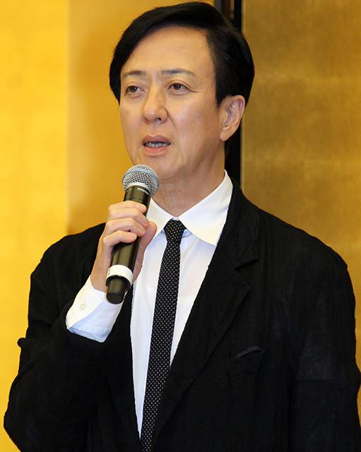 記者懇親会に出席した坂東玉三郎