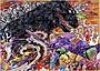 村上隆が描く「ゴジラ対エヴァンゲリオン」新ビジュアル披露!日本画タッチでにらみ合い