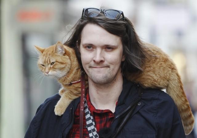 ホームレスと野良猫の実話「ボブという名のストリート・キャット」予告編が公開