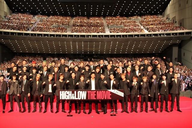 EXILE「HiGH&LOW」男だらけ50人舞台挨拶にファン4000人熱狂