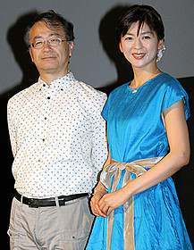 金子修介監督と中山忍「ガメラ 大怪獣空中決戦」