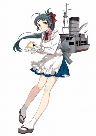 ゲームに登場する給糧艦「伊良湖」「劇場版 艦これ」