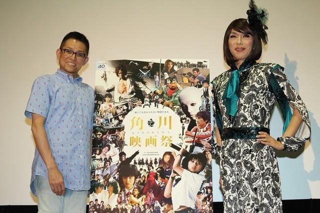 映画ライターのよしひろまさみち氏と女装パフォーマーのブルボンヌ
