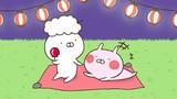 LINEの人気スタンプ「うさまる」のシュールな日常を描く短編アニメ、LINE LIVEで配信開始