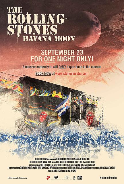キューバで行われたストーンズのライブを収録 「ハバナ・ムーン」一夜限りのプレミア上映決定
